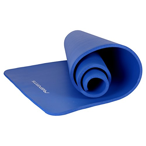 MSPORTS Gymnastikmatte Premium inkl. Tragegurt + Übungsposter + Workout App I Hautfreundliche Fitnessmatte 190 x 100 x 1,5 cm - Königsblau - Phthalatfreie Yogamatte